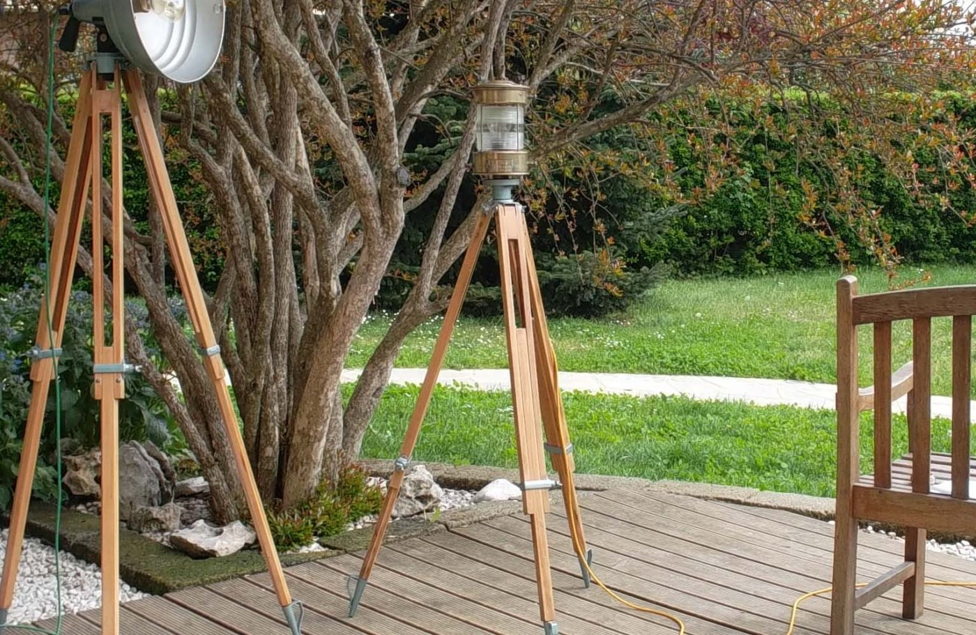 Lampade Da Terra In Legno: Lampada da terra in legno mask lamp by ...